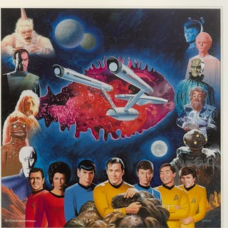 STAR TREK (1993) ORIGINAL ARTWORK AND PUZZLE, US