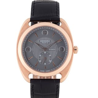 HERMÈS | DRESSAGE, REF DR5.77C LIMITED EDITION PINK GOLD WRISTWATCH CIRCA 2012