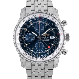BREITLING | NAVITIMER, REF A24322 STAINLESS STEEL DUAL TIME CHRONOGRAPH