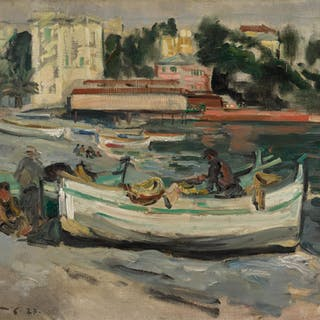 GEORGE LESLIE HUNTER | THE BEACH, JUAN-LES-PINS