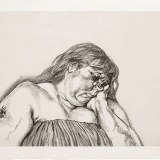 LUCIAN FREUD | WOMAN WITH AN ARM TATTOO (F. 40)