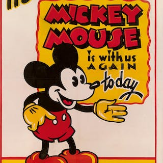 MICKEY MOUSE, c.1932, POSTER, US