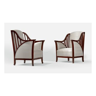 "HENRY VAN DE VELDE | PAIR OF ""HAVANA"" ARMCHAIRS, MODEL NO. 1111"