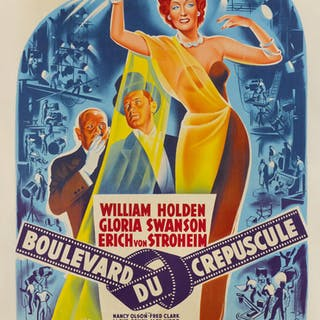 SUNSET BOULEVARD (1950) POSTER, FRENCH