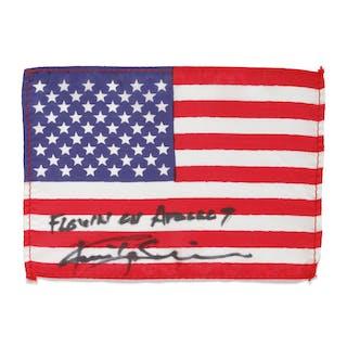 [APOLLO 9]. FLOWN ON APOLLO 9. UNITED STATES OF AMERICA FLAG FROM