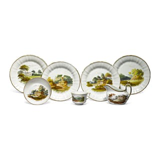 A GROUP OF WEDGWOOD BONE CHINA TOPOGRAPHICAL WARES CIRCA 1812-16