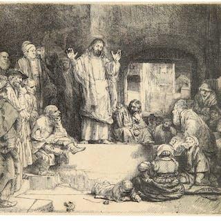 REMBRANDT HARMENSZ. VAN RIJN | CHRIST PREACHING ('LA PETITE TOMBE')