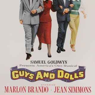 GUYS AND DOLLS (1955) POSTER, US