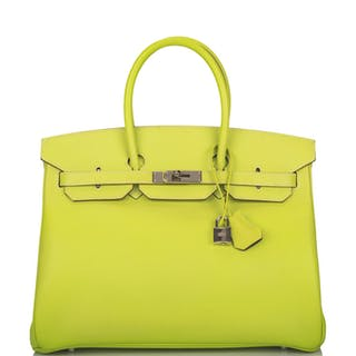 "Hermès Bi-color Kiwi and Lichen ""Candy"" Birkin 35cm of Epsom Leather"
