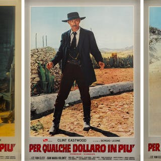 PER QUALCHE DOLLARO IN PIU / FOR A FEW DOLLARS MORE (1966) POSTERS, ITALIAN