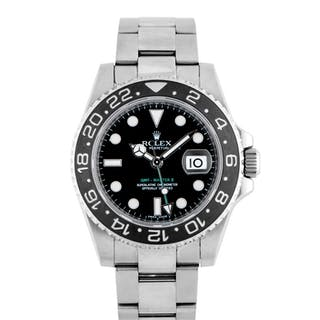 ROLEX | GMT-MASTER II, REF 116710 STAINLESS STEEL DUAL TIME WRISTWATCH