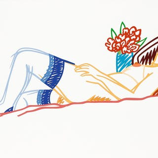 TOM WESSELMANN | NUDE WITH BOUQUET AND STOCKINGS