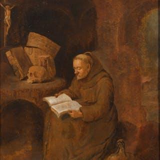 QUIRINGH GERRITSZ. VAN BREKELENKAM   A monk reading
