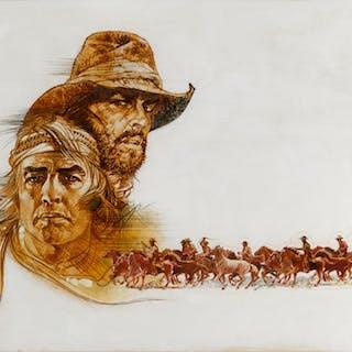 THE MISSOURI BREAKS (1976) ORIGINAL ARTWORK, BRITISH