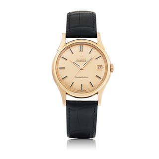 OMEGA | CONSTELLATION, REF 14393/4 SC 2 PINK GOLD WRISTWATCH WITH