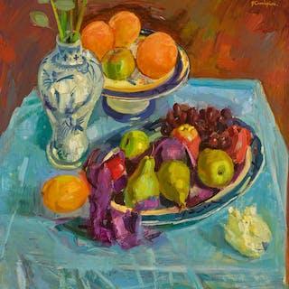 JOHN CUNNINGHAM, R.G.I. | STILL LIFE WITH FRUIT