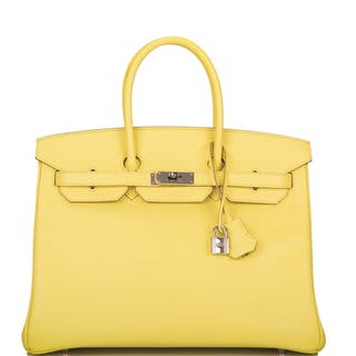 Hermès Soufre Birkin 35cm of Epsom Leather with Palladium Hardware