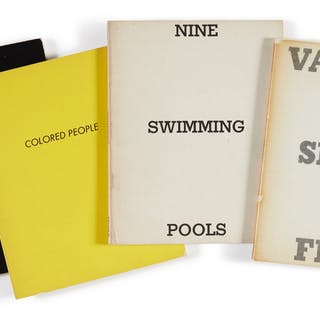 ED RUSCHA | VARIOUS SMALL FIRES; NINE SWIMMING POOLS; A FEW PALM TREES;