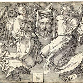 ALBRECHT DÜRER | THE SUDARIUM HELD BY TWO ANGELS (B. 25; M., HOLL. 26)