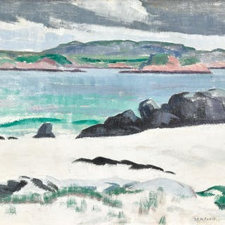 FRANCIS CAMPBELL BOILEAU CADELL, R.S.A., R.S.W.   IONA, COWS ROCK