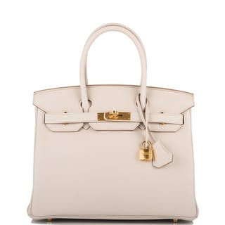 Hermès Beton Birkin 30cm of Togo Leather with Gold Hardware