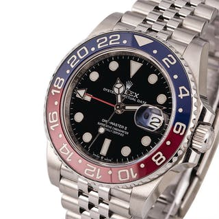 ROLEX | GMT Master II, Ref. 126710BLRO, A Stainless Steel Wristwatch