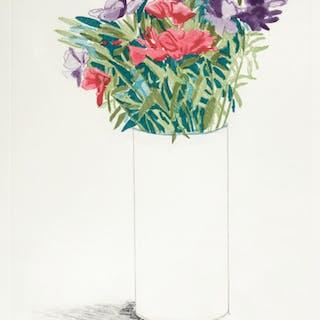 DAVID HOCKNEY, R.A. | GODETIA (SCOTTISH ARTS COUNCIL 155)