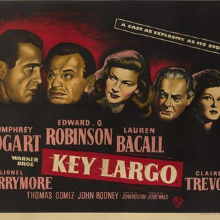 KEY LARGO (1948) POSTER, BRITISH