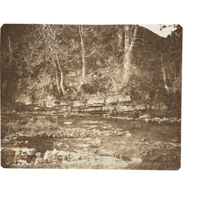 WILLIAM HENRY FOX TALBOT | A MOUNTAIN RIVULET WHICH FLOWS AT THE FOOT