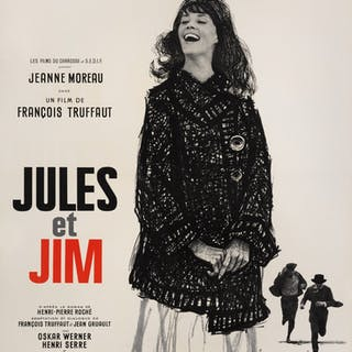 JULES ET JIM (1962) POSTER, FRENCH
