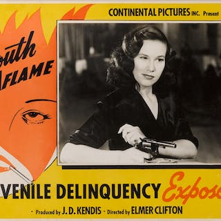 YOUTH AFLAME (1944) LOBBY CARD, US