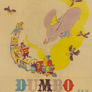 DUMBO / DUMBO L' ELEPHANT VOLANT (1941) POSTER, FRENCH