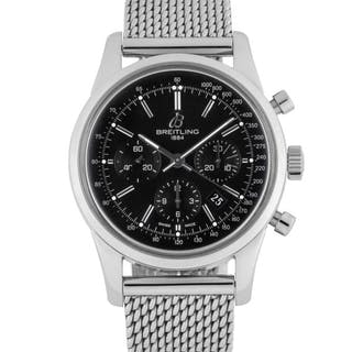 BREITLING | TRANSOCEAN, REF AB0152 STAINLESS STEEL CHRONOGRAPH WRISTWATCH