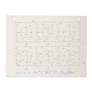 [APOLLO 11]. FLOWN APOLLO 11 FLIGHT PLAN SHEET - A STAR CHART USED