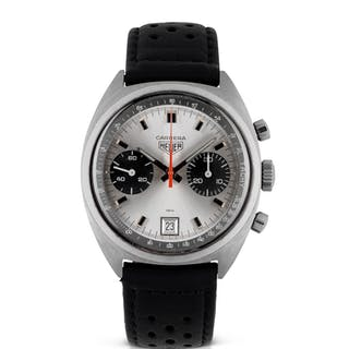 HEUER | CARRERA, REF 7853 STAINLESS STEEL CHRONOGRAPH WRISTWATCH WITH