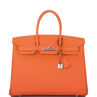 Hermès Feu Birkin 35cm of Epsom Leather with Palladium Hardware