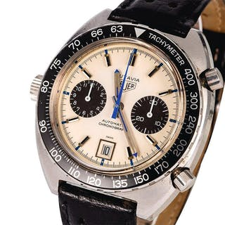 HEUER | Autavia, Ref. 1163, A Stainless Steel Chronograph Wristwatch