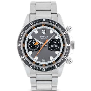 TUDOR | HERITAGE, REF 70330N STAINLESS STEEL CHRONOGRAPH WRISTWATCH