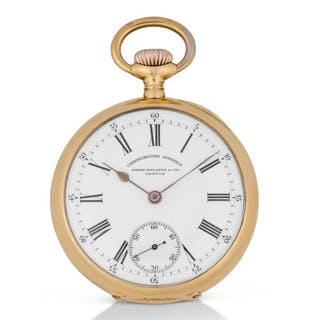PATEK PHILIPPE | CHRONOMETRO GONDOLO PINK GOLD OPEN-FACED WATCH  MADE IN 1902
