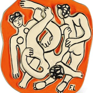 AFTER FERNAND LÉGER | LES ACROBATES SUR FOND ORANGE