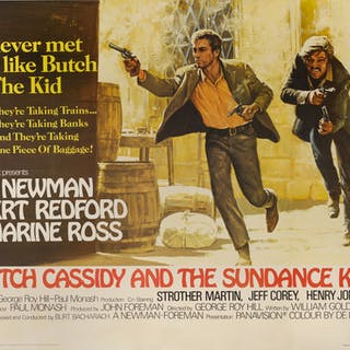 BUTCH CASSIDY AND THE SUNDANCE KID (1969) POSTER, BRITISH