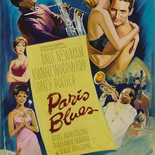 PARIS BLUES (1961) ORIGINAL ARTWORK, FRENCH