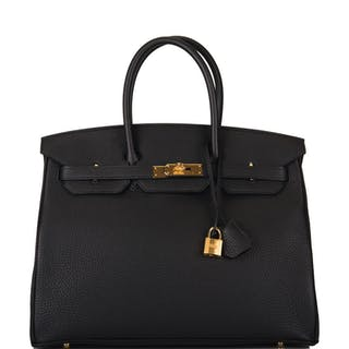 Hermès Black Birkin 35cm of Togo Leather with Gold Hardware