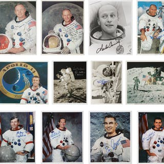 [APOLLO PROGRAM]. APOLLO MOONWALKERS COLLECTION. CONTAINING 12 PORTRAITS