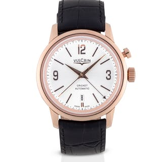 VULCAIN | CRICKET, REF 210550.279 PINK GOLD ALARM WRISTWATCH WITH