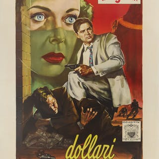 PRIVATE HELL 36 / DOLLARI CHE SCOTTANO (1954) POSTER, ITALIAN