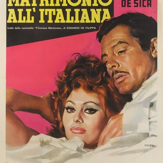 MATRIMONIO ALL' ITALIANA / MARRIAGE ITALIAN STYLE (1964) POSTER, ITALIAN