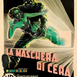 HOUSE OF WAX / LA MASCHERA DI CERA (1953) POSTER, ITALIAN