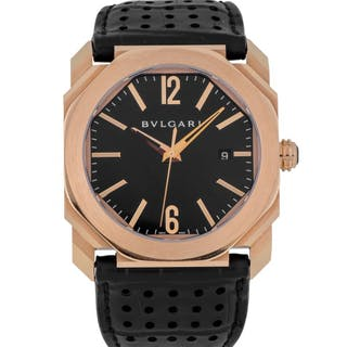BULGARI | OCTO, REF BGO P 41 G PINK GOLD WRISTWATCH WITH DATE CIRCA 2012