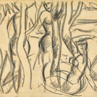 JOHN DUNCAN FERGUSSON, R.B.A. | STUDY FOR DRYADS, CAP D'ANTIBES, 1932